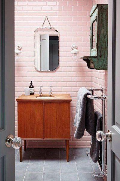 75x150mm bevelled pink