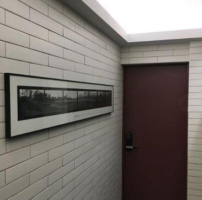 75x300mm white glossy flat