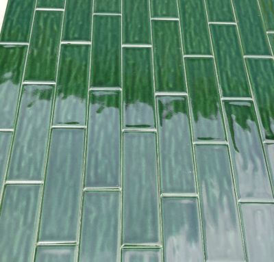 wavy surface solid color glazed wall tiles 60*200mm