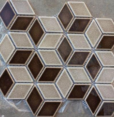 chip size 46*78mm diamond cracked glazed ceramic mosaic