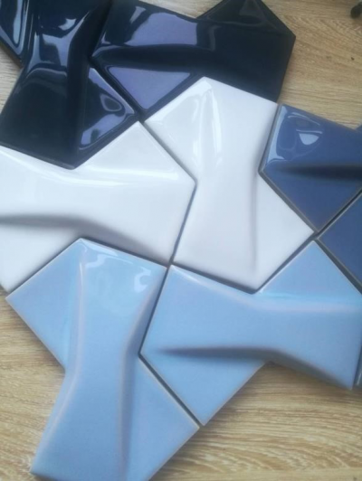 Butterfly decorative hand made tiles 100x150mm