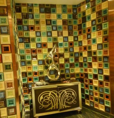 100*100mm square plate decorative handmade tiles