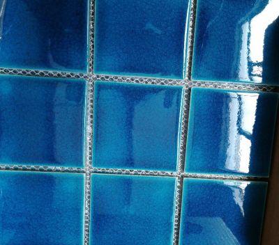 100*100mm crackle glazed mosaic tiles,swimming pool tiles