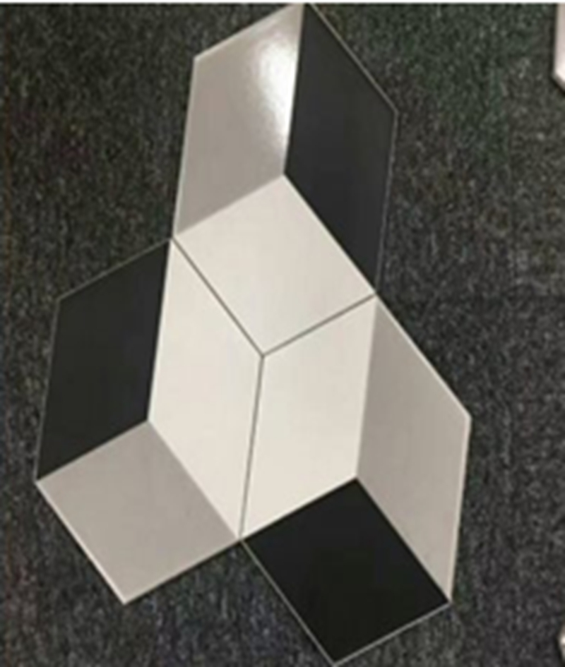 200x230x115mm hexagonal tiles